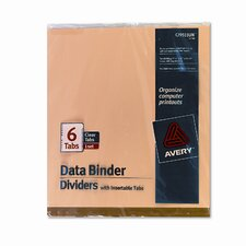Gold Line Data Binder Insertable Tab Index, 9-1/2 X 11 (6 Tabs, 6/Set)