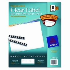 Index Maker Clear Label Contemporary Dividers (8 Tabs, 25 Sets/Pack)