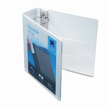 "Durable Vinyl Slant D Ring View Binder, 3"" Capacity"