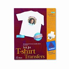 Personal Creations Inkjet T-Shirt Transfer, 8-1/2 X 11, 12/Pack