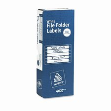 Dot Matrix File Folder Labels, 5000/Box