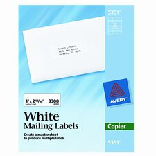 Self-Adhesive Address Labels for Copiers, 3300/Box