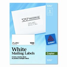 Self-Adhesive Shipping Labels for Copiers, 1000/Box