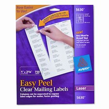 Easy Peel Laser Mailing Labels, 750/Box