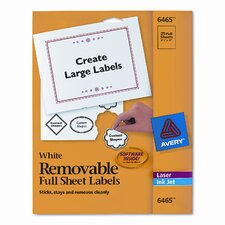Removable Inkjet/Laser I.D. Labels, 25/Pack