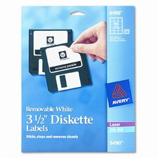 6490 Laser/Inkjet Diskette Labels, 375/Pack