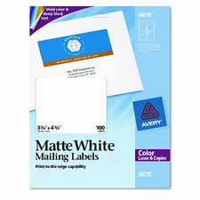 Shipping Labels for Color Laser and Copier, 100/Pack