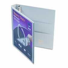 Nonstick Heavy-Duty EZD Reference View Binder, 1in Capacity, Navy Blue