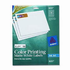 Inkjet Labels for Color Printing (600/Pack)