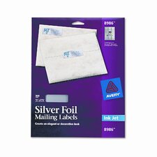 Foil Mailing Labels, 3/4 X 2-1/4, 300/Pack