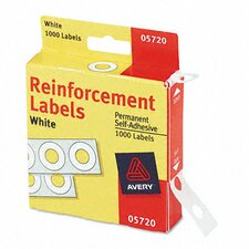 Dispenser Pack Hole Reinforcements, 1000/Pack