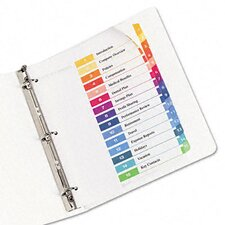 Ready Index Contemporary Table of Contents Divider (15 Tabs)