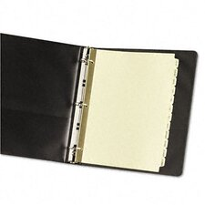 Gold Reinforced Laminated Tab Dividers with JAN-DEC Tabs (12 Tabs, 12 Sets/ Box)