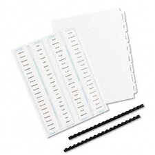 Index Maker Clear Label Unpunched Divider (8 Tabs, 5 Sets/Pack)