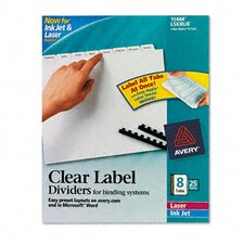 Index Maker Clear Label Unpunched Divider (8 Tabs, 25 Sets/Pack)
