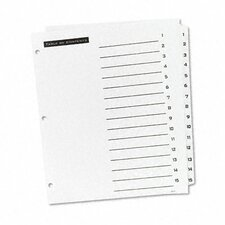 Office Essentials Office Essentials Table 'N Tabs Dividers, 15-Tab, 1-15, Letter, 1 Set