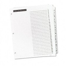 Office Essentials Office Essentials Table 'N Tabs Dividers, 31-Tab, 1-31, Letter, 1 Set