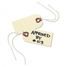 Paper/Twine Shipping Tags, 3 1/4 X 1 5/8 (1,000/Box)