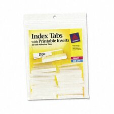 Avery Self-Adhesive Tabs with Printable Inserts (25/Pack)