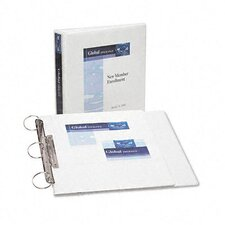 "Durable Flip Back Round Ring View Binder, 1-1/2"" Capacity"
