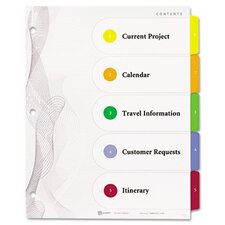 Designer Ready Index Dividers, Multicolor 5-Tab, 11 x 8-1/2, 3 Sets/Pack