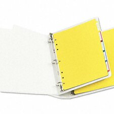 Plastic Index Dividers, White Self-Stick Labels (5 Tabs, 1 Set/Pack)