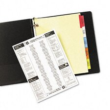 Worksaver Big Tab Dividers with CPR Holes (5 Tabs)