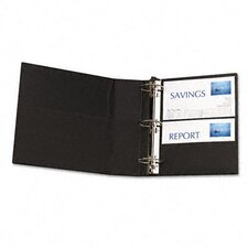 "Durable Ez-Turn Ring Binder with Label Holder, 3"" Capacity"