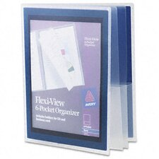 Flexi-View Six-Pocket Polypropylene Organizer