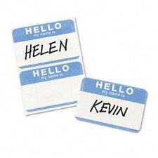 Print/Write Self-Adhesive Name Badges, 100/Pack