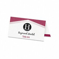 Tent Cards, 4 Cards/Sheet, 160 Cards/Box