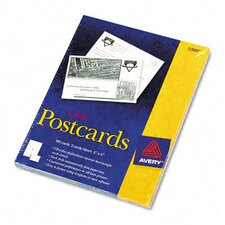 5389 Laser Postcards, Two Per Sheet, 100 Cards/Box