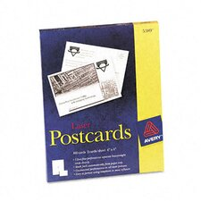 <strong>Avery Consumer Products</strong> Laser Postcards, Two Per Sheet, 100 Cards/Box