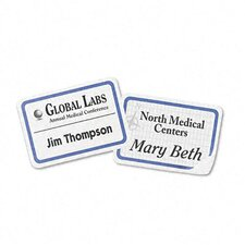 Flexible Self-Adhesive Laser/Inkjet Name Badge Labels