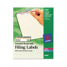 <strong>Avery Consumer Products</strong> Removable Filing Labels for Inkjet/Laser, 750/Pack