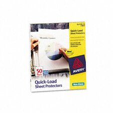 Quick Top and Side Loading Sheet Protectors, Letter, 50/Box