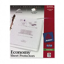Top-Load Poly Sheet Protectors, Economy Gauge, Letter, 150/Box