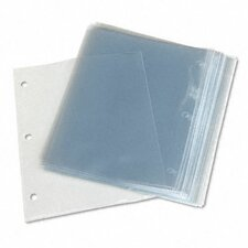 Top-Load Poly 3-Hole Punched Sheet Protectors, Letter, 50/Box
