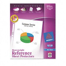 Top-Load Poly Sheet Protectors, Super Heavy, Letter, Nonglare, 200/Box