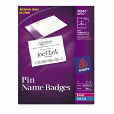 Badge Holders with Laser/Inkjet Inserts, Top Loading, 100/Box