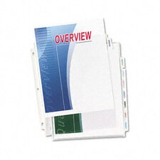 Index Maker Clear Label Three-Hole Punch View Dividers, Letter, Eight/set