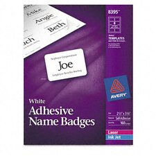 Flexible Self-Adhesive Laser/Inkjet Name Badge Labels (160/Pack)