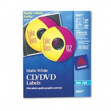 <strong>Avery Consumer Products</strong> Inkjet CD/DVD Labels (100/Pack)
