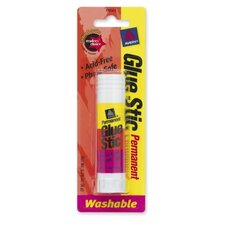 Permanent Glue Stic, .26 oz., Washable, White