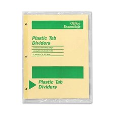 Economy Insertable Dividers, 5 Tabs, Clear