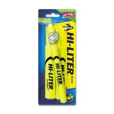 Highlighter,Chisel Point,2/CD,Fluorescent Yellow