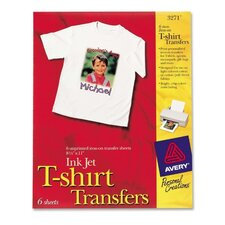 "Iron-On T-Shirt Transfers, 6 Transfers, 8-1/2""x11"""