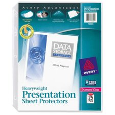 Sheet Protector, Heavyweight, 25/BX, Clear