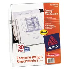 "Sheet Protectors, Top Load, Polypropylene,for 8-1/2""x11"" Sheets., Clear"