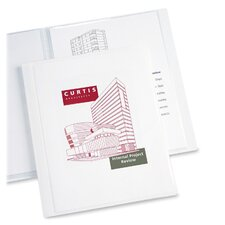 "Presentation Book, 12 Pages, 8-1/2""x11"", White"
